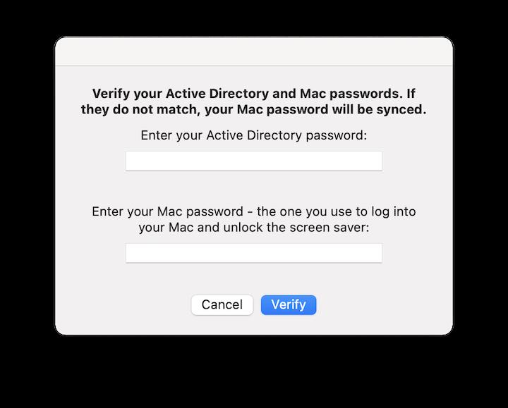 SSO password verify