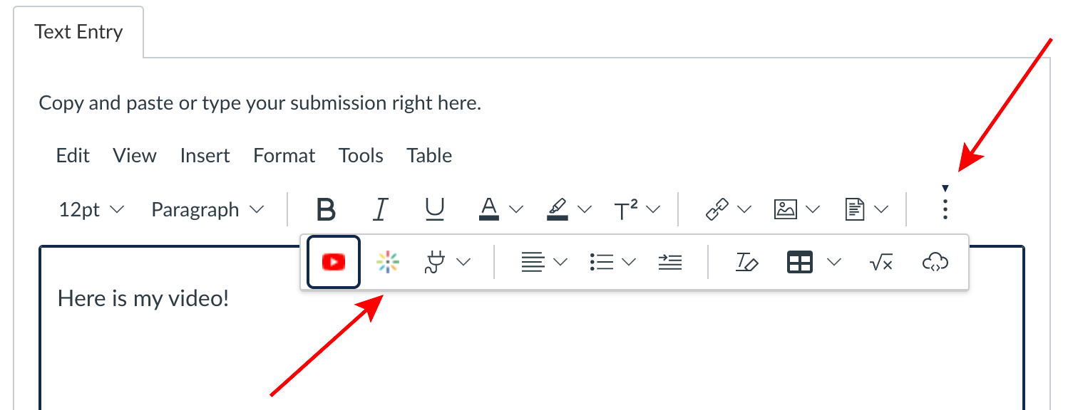 Click on the three dots to expand the tool bar.