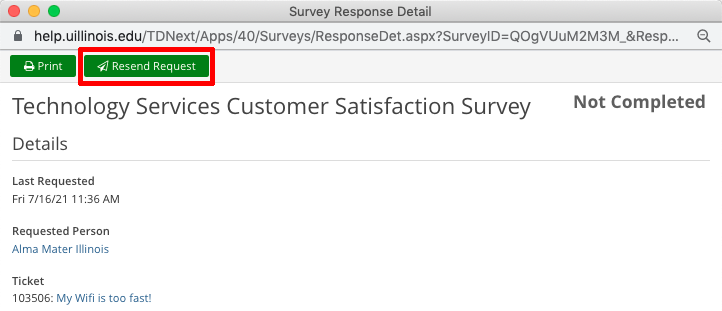 Example Resend Request Button